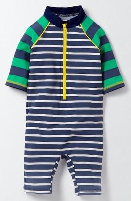 Toddler Boy's Mini Boden Hotchpotch One-Piece Rashguard Swimsuit $43 thestylecure.com
