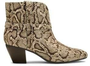 Aerosoles Martha Stewart Hailee Snake Skin Printed Booties