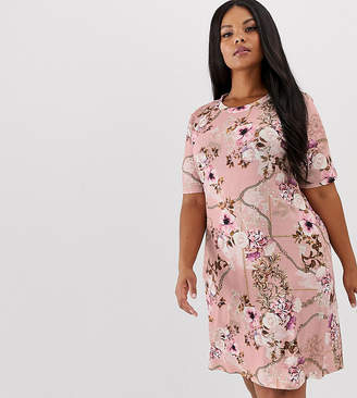 0bf450281 Pink Clove t-shirt dress in luxe print