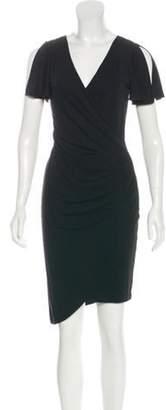 Nicole Miller Short Sleeve Midi Dress Black Short Sleeve Midi Dress