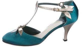 Marc Jacobs Satin T-Strap Pumps