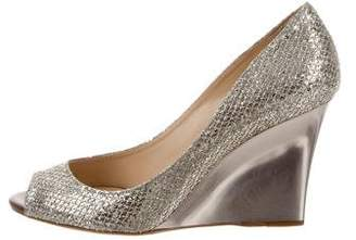Jimmy Choo Baxen Glitter Wedges