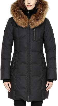 Soia and Kyo Chrissy Fur Trim Hood Down Coat $595 thestylecure.com