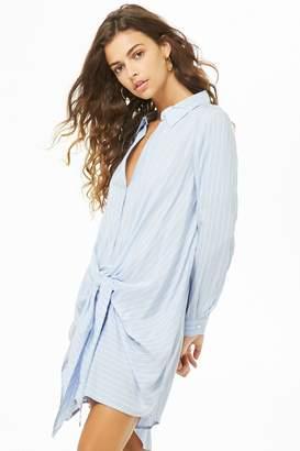 Forever 21 Pinstriped Shirt Dress
