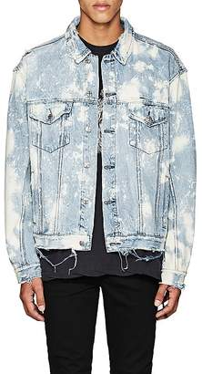 Ksubi Men's Oversized Bleached Denim Jacket