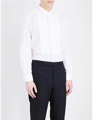 Ralph Lauren Purple Label Regular-fit pleated bib cotton shirt