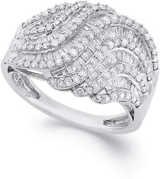 Wrapped in Love Diamond Twist Ring in Sterling Silver (1 ct. t.w.), Created for Macy's