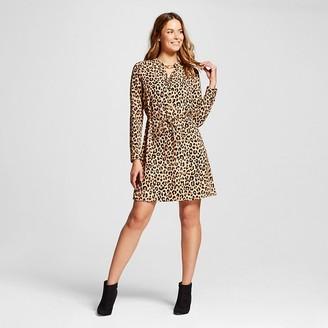Women's Printed Crepe Shirt Dress - Merona $27.99 thestylecure.com
