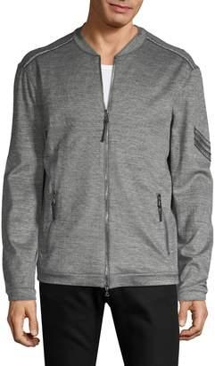 John Varvatos Tonal Knit Bomber Jacket