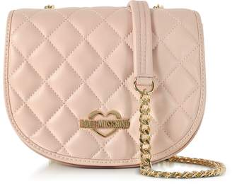 Love Moschino Pink Superquilted Eco-Leather Small Crossbody Bag