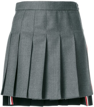 Thom Browne Striped Pleated Fun Mix Mini Skirt