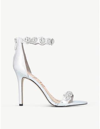 Sam Edelman Addison metallic-leather heeled sandals