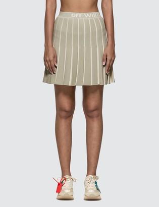 Off-White Off White Knit Swans Mini Skirt