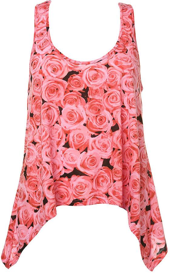 Pink Rose Drape Side Top