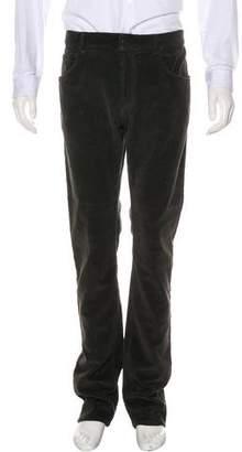 Bottega Veneta Flat Front Corduroy Pants