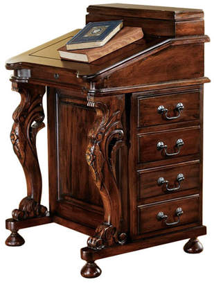 Toscano Design The Captain's Davenport Secretary/Roll Top Desk