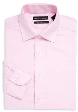 Saks Fifth Avenue Point Collar Cotton Dress Shirt