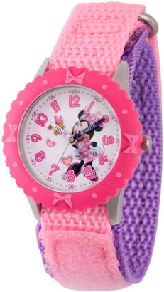 DISNEY MINNIE MOUSE Disney Minnie Mouse Girls Pink Strap Watch-Wds000161