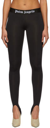 Palm Angels Black Sport Leggings