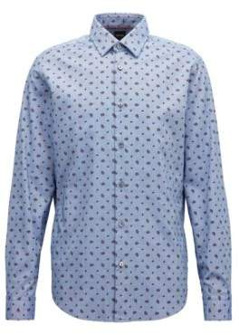 BOSS Hugo Regular-fit shirt in paisley-print Oxford cotton S Open Blue