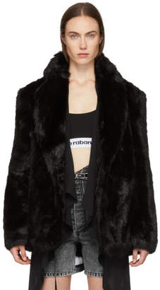 Alexander Wang Black Faux-Fur CEO Jacket