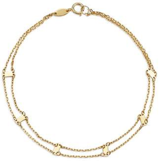 Moon & Meadow Doubled Chain & Bar Bracelet in 14K Yellow Gold - 100% Exclusive