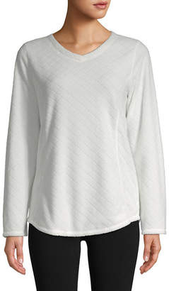 ST. JOHN'S BAY SJB ACTIVE Active V-Neck Polar Fleece Sweatshirt