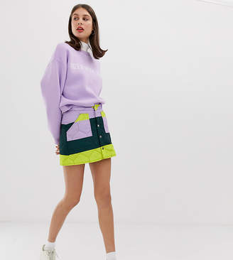 Tiger of Sweden Exclusive quilted colourblock skirt