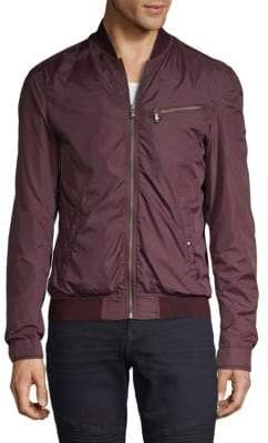 John Varvatos Mockneck Full-Zip Bomber Jacket