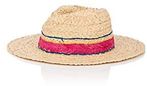 Barneys New York WOMEN'S STITCHED-BAND RAFFIA HAT