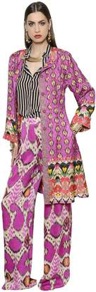 Etro Ethnic Printed Silk Blend Light Coat