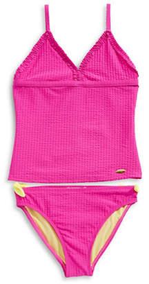 Jessica Simpson Two-Piece Ribbed Bikini Set