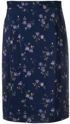 Blumarine floral-print pencil skirt