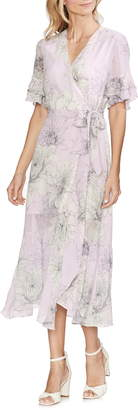Vince Camuto Blossoms Tiered Ruffle Midi Dress
