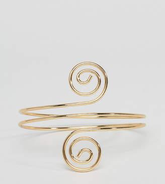 Asos DESIGN Curve Swirl Arm Cuff