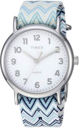 Timex Women's TW2R59200 Weekender 38 Fabric Slip-Thru Strap Watch