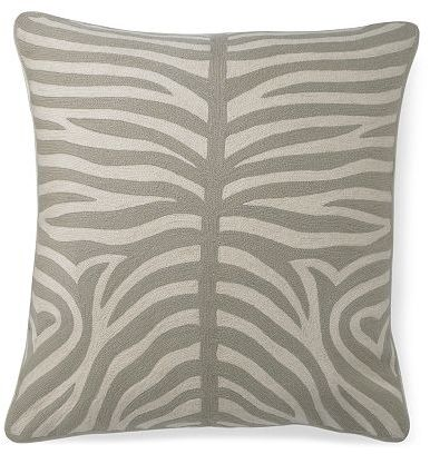 Zebra Crewel Floor Cushion