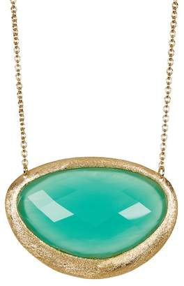 Rivka Friedman Faceted Mint Chalcedony Crystal Pendant Necklace