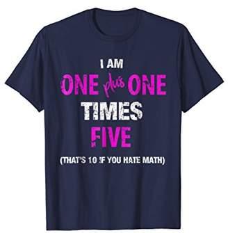 Funny 10th Birthday Calculation Math T-Shirt for Girls