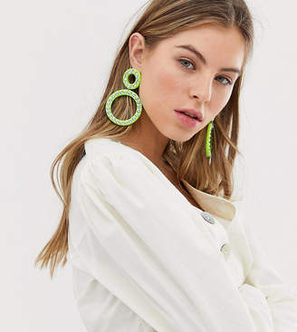 Liars & Lovers Exclusive neon green and rhinestone statement earrings