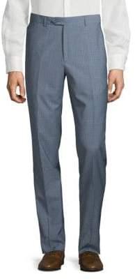 Santorelli Micro Check Wool Trousers