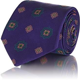 Fairfax Men's Medallion-Pattern Silk Twill Necktie