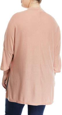 Melissa McCarthy Mock-Neck Ribbed Tunic, Plus Size