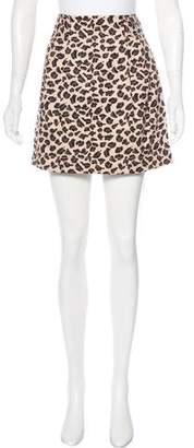 Marc by Marc Jacobs Leopard Print Mini Skirt
