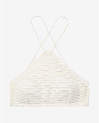 Express crochet y-neck bikini swim top