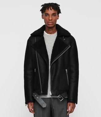 AllSaints Byward Shearling Biker Jacket