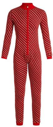 Perfect Moment - Frequency Intarsia Wool Knit Jumpsuit - Womens - Red Multi