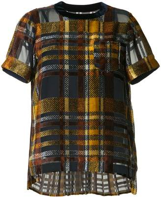 Sacai checked T-shirt