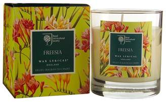 Freesia Wax Lyrical RHS scented boxed wax candle filled glass