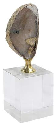 Jay Import Amber/White Agate Decorative Stand